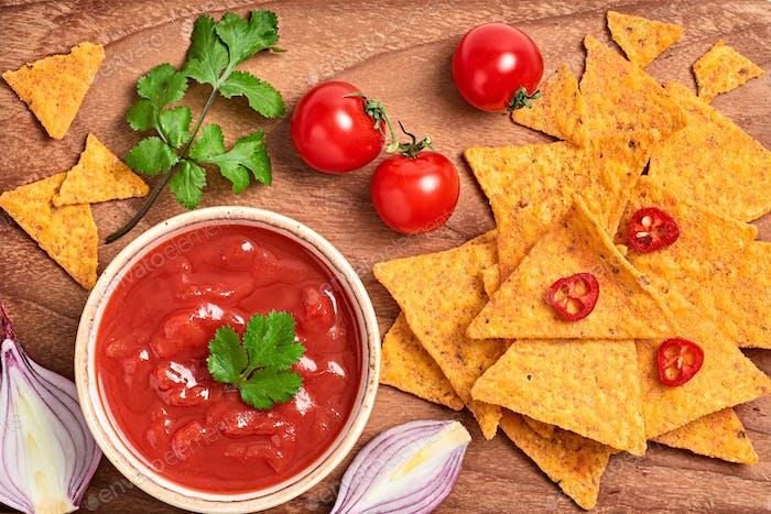 Nachos salsa