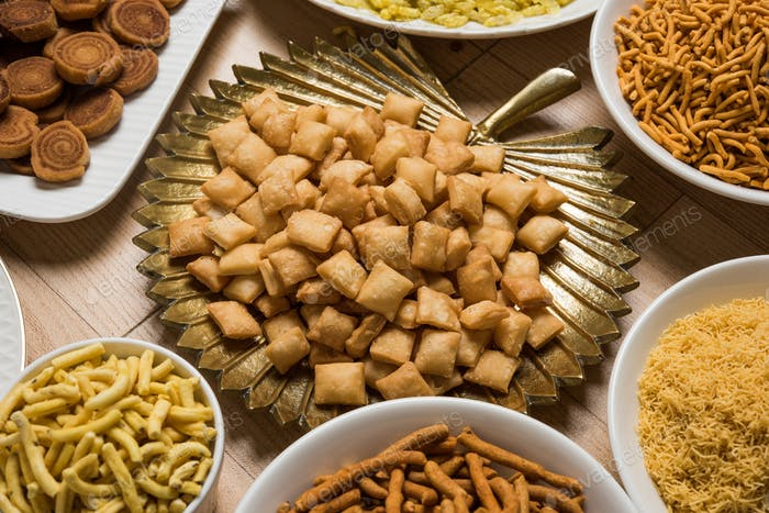 Grupo de Snacks Diwali