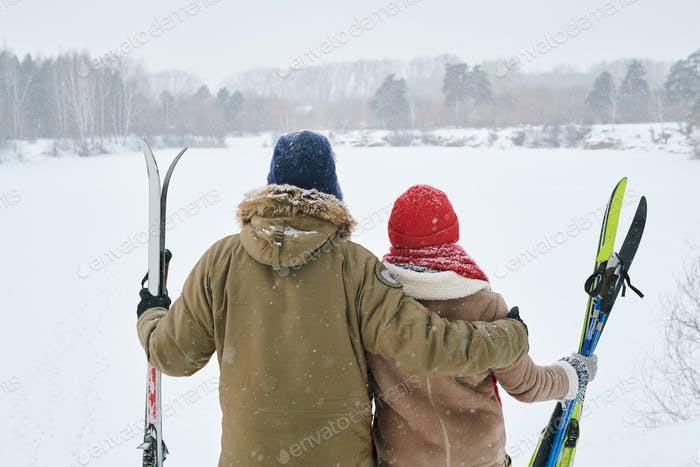 Couple Looking at  Winter View