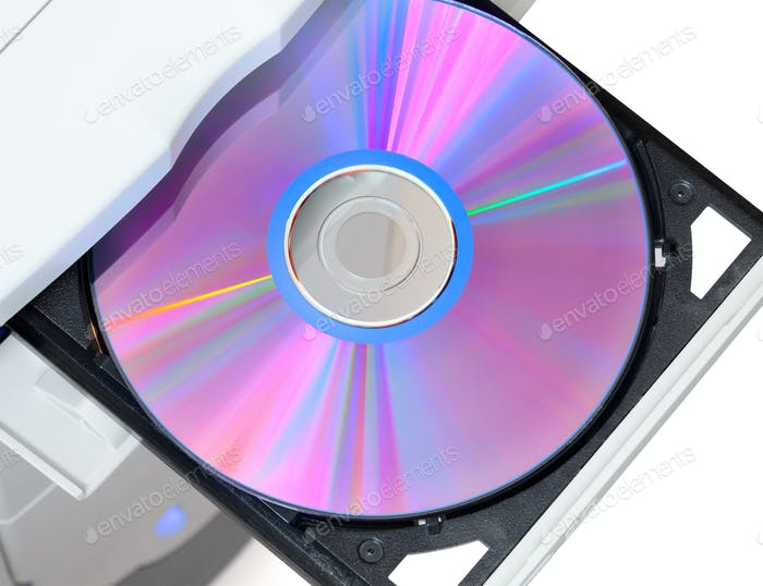 Dvd in open tray