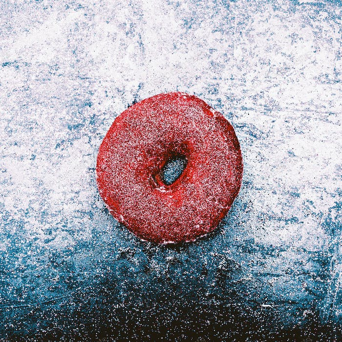 Glitter Donut Fashion concept Shining snow fast food Minimal Des