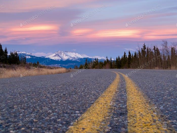 North Klondike Hwy in der Nähe von Whitehorse Yukon Kanada