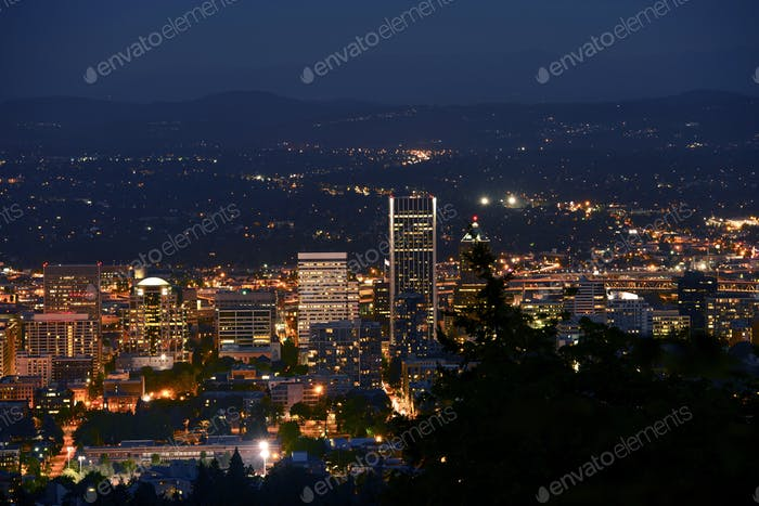 Downtown Portland Closeup