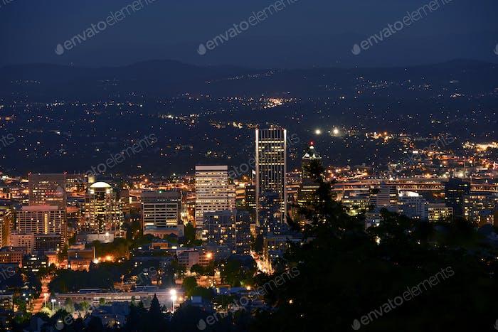 Downtown Portland Nahaufnahme