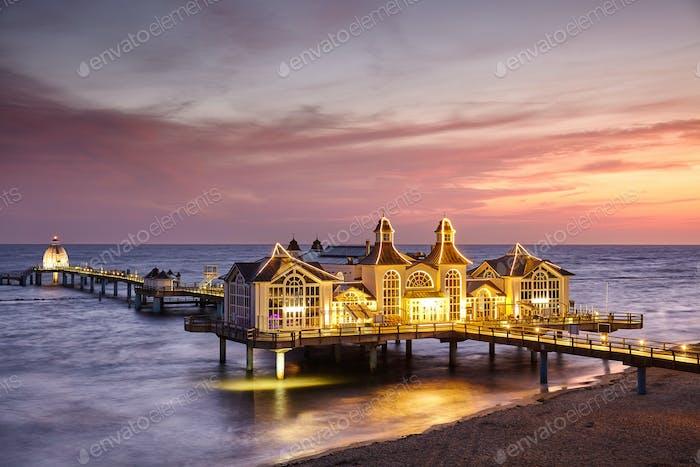 Sellin pier at sunrise