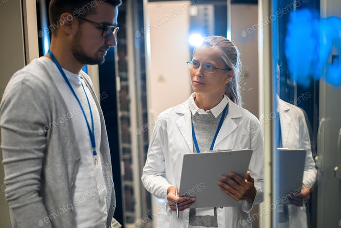 Research Team Working with Supercomputer