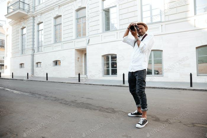Afro amerikanischer Fotograf