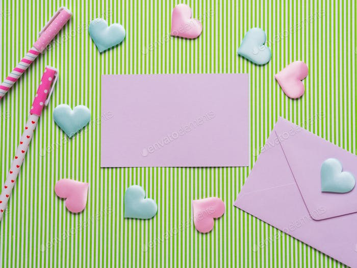 Valentine's day concept with card