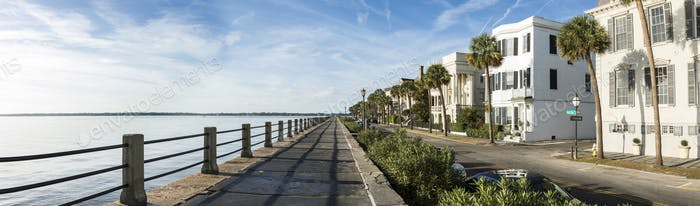 East Bay Street in Charleston, South Carolina, 180 degree panora