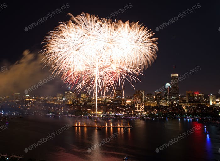 4. Juli Feuerwerk in Boston