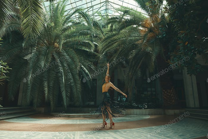 Dancing is a lifestyle, young beautiful woman dancers performing