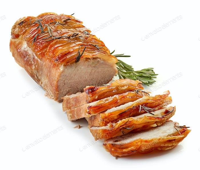 roasted sliced pork