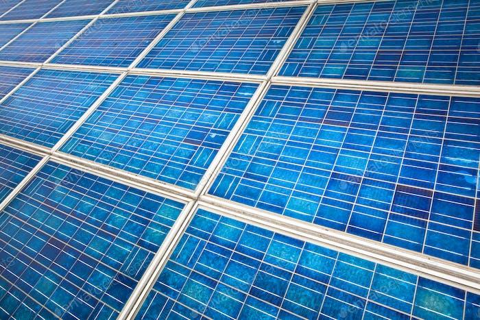 Solar panel on a sunny day