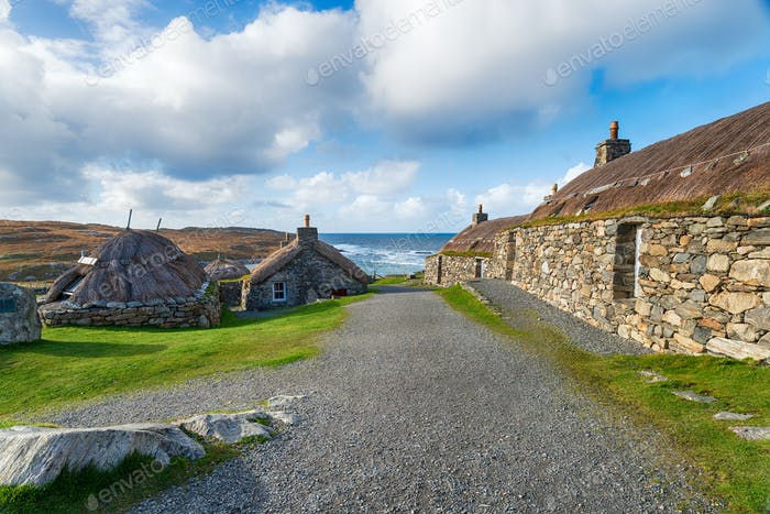 Thatched Crofts on the Isle of Lewis