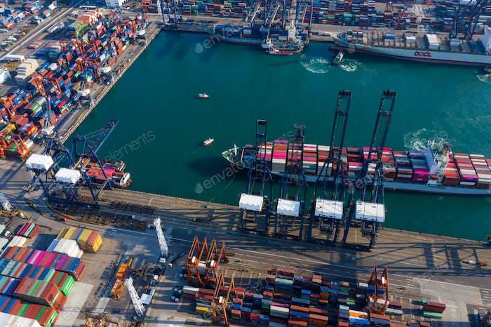 Kwai Tsing , Hong Kong 12 February 2019:- Hong Kong container port