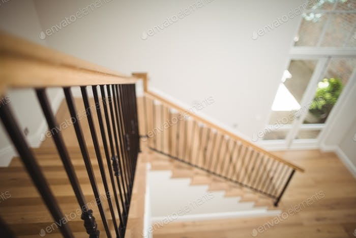 Thumbnail for Interior view of wooden floor and staircase