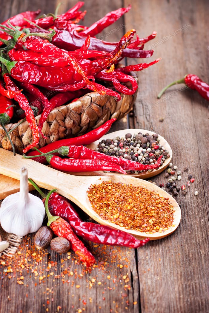 Red Pepper and Spices