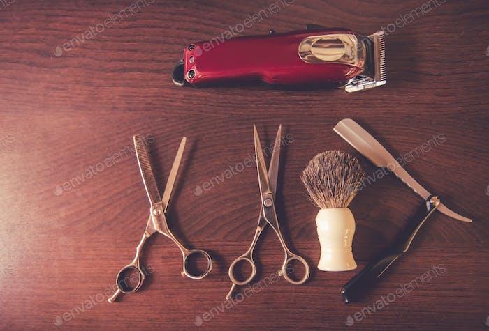 Moderne Barbier Werkzeuge