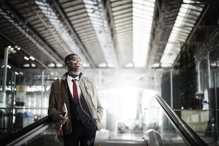 Escalator Businessman Corporate Executive Concept