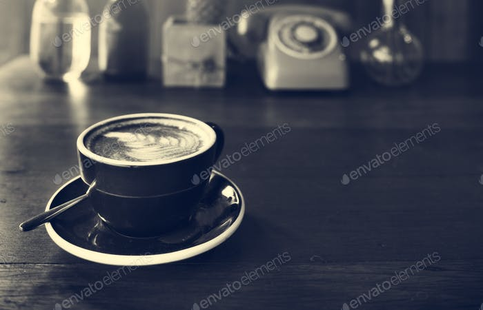 Coffee Beverage Cafe Relaxing Cappuccino Latte Concept