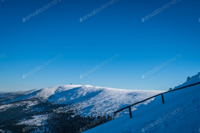 Winter landscape in  Karkonosze mountains