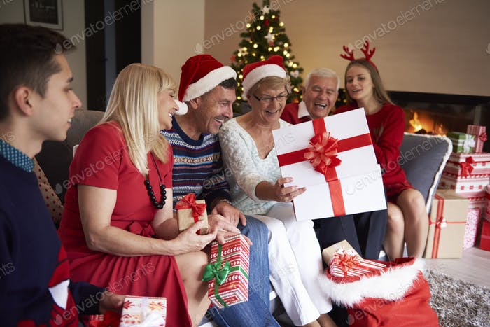 Grandmother has got the biggest gift