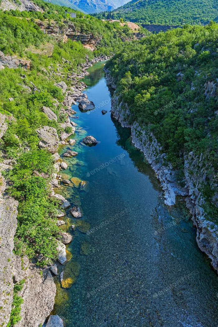 Moraca river canyon in Montenegro