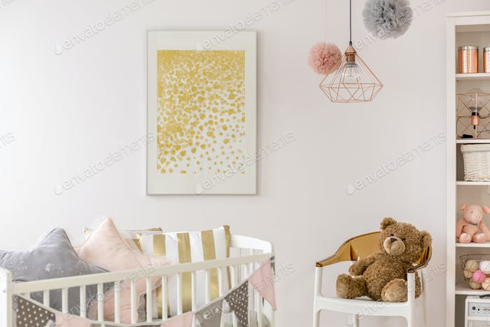 Toddler bedroom with white crib