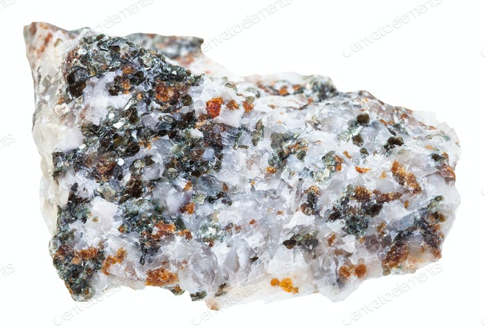specimen of Calcite with Chondrodite and Diopside