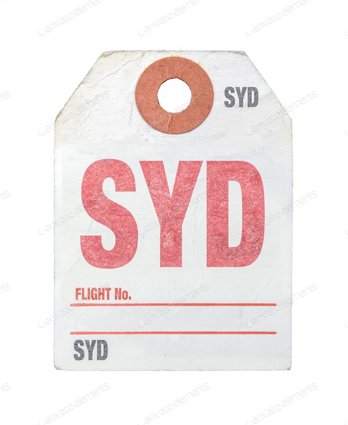 Retro Sydney Airport Luggage Tag