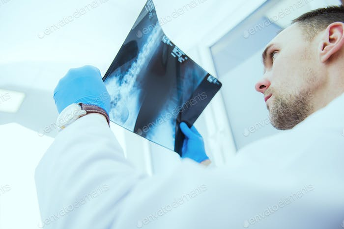 Doctor Checking Xray Results