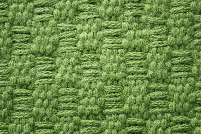 Green fabric closeup