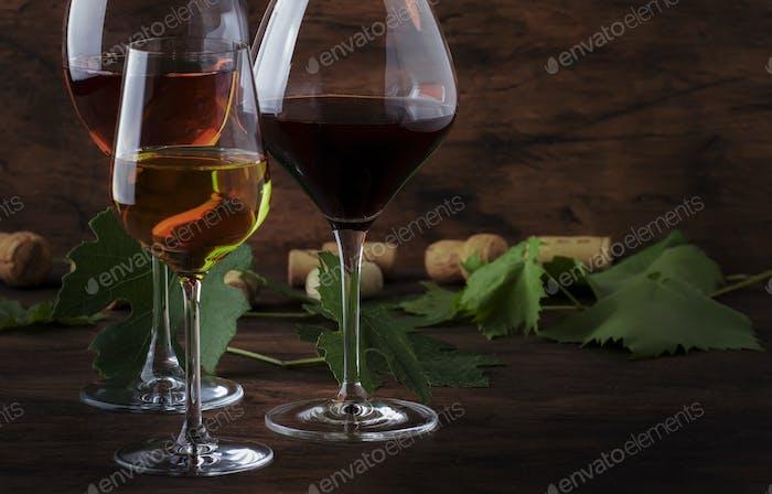 Weinset Rot-, Weiß- und Roséwein