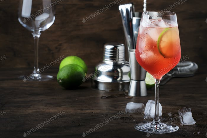Campari Tonic Alkohol Cocktail