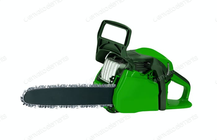Chainsaw. isolated on white