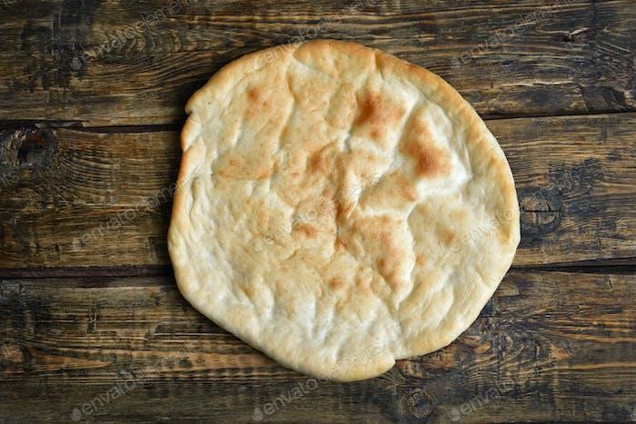 Naan bread, top view