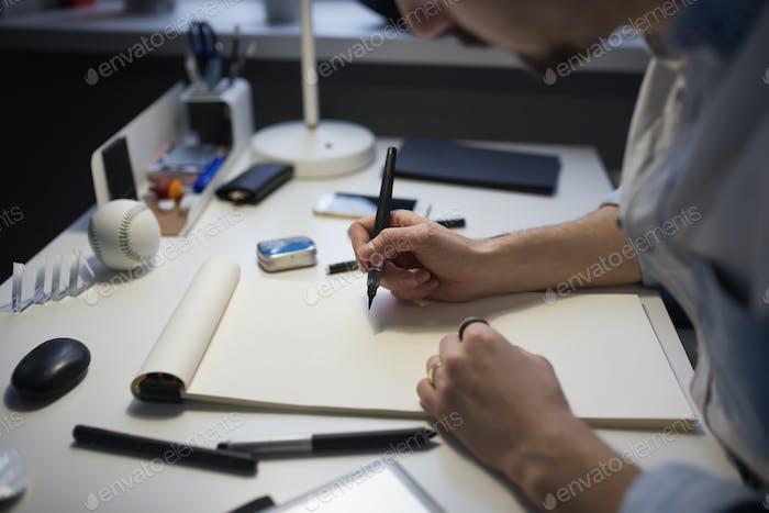 Proyecto de Diseño de dibujo de diseñador.