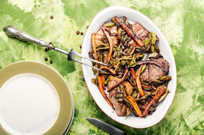 Rindfleisch mit Gemüse