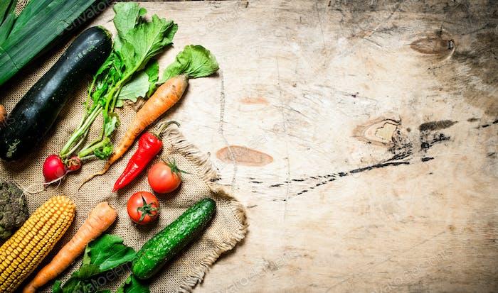 Healthy vegetables.