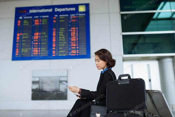 Business lady in airport