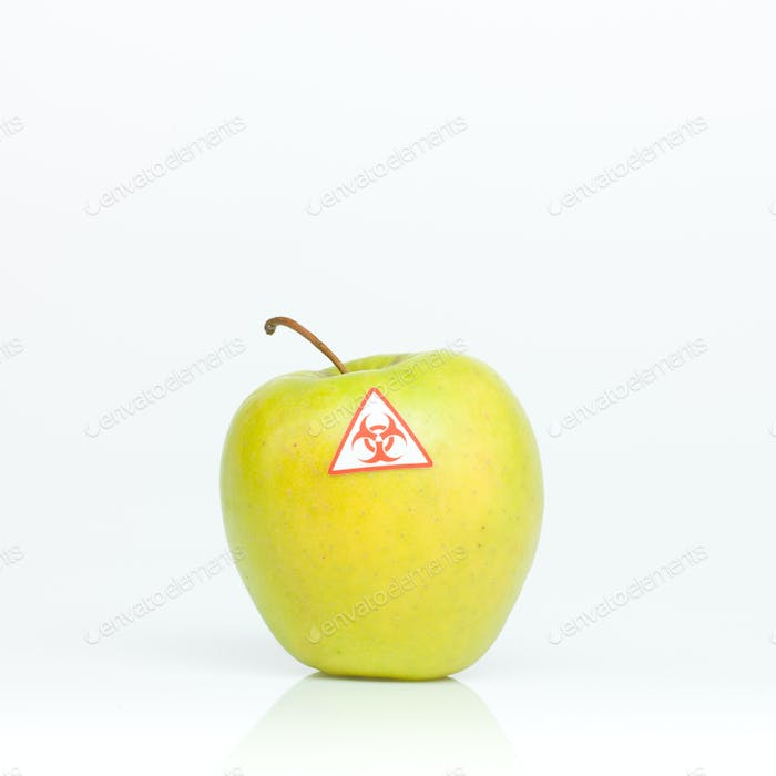 contaminated apple