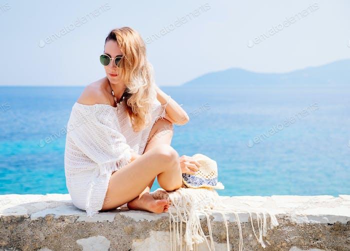 Schönheit Frau am Meer