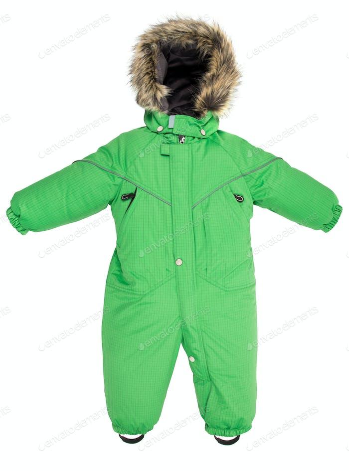 Childrens snowsuit fall