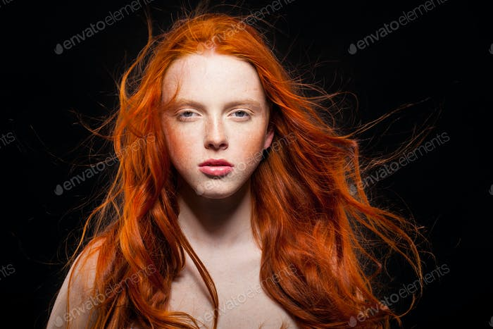 Wavy Red Hair