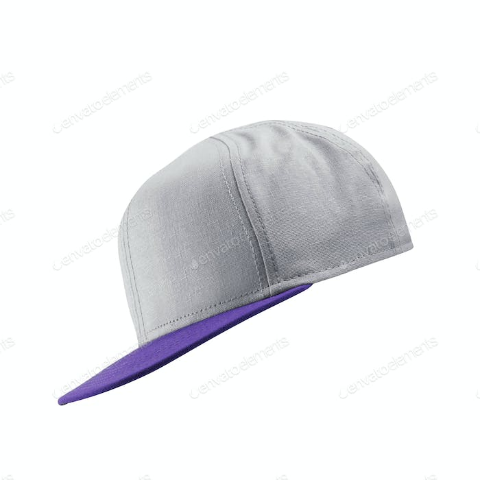 White baseball cap template