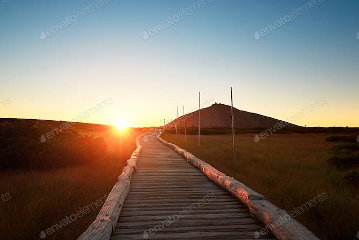 Amazing sunrise in the mounatins