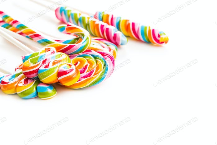 Set of colorful lollipops.
