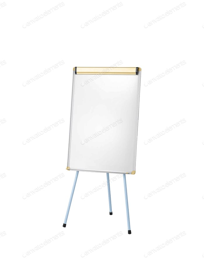 Whiteboard isoloated on white