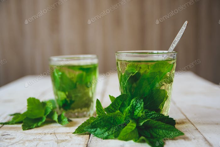 Green mint tea
