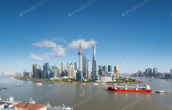 shanghai skyline and cityscape